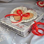 Подарки к праздникам handmade. Livemaster - original item Valentine - souvenir/postcard