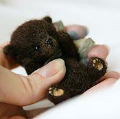 Куклы и игрушки ручной работы. Ярмарка Мастеров - ручная работа Малыш Санни, медвежонок 6 см. Handmade.