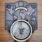 Для дома и интерьера ручной работы. Ярмарка Мастеров - ручная работа Часы настенные декоративные «THE ERA OF DISCOVERY» (эпоха открытий). Handmade.