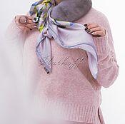 Аксессуары handmade. Livemaster - original item Mink blue clutch with silk scarf L. Vuitton Delicate monogram. Handmade.