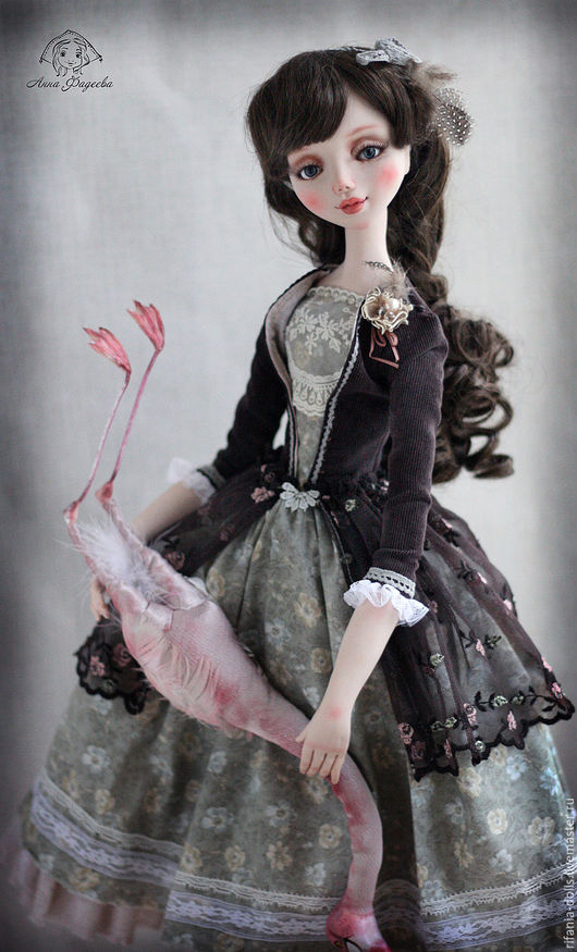 Коллекционные куклы ручной работы. Ярмарка Мастеров - ручная работа. Купить Алиса. Handmade. Коричневый, Ливинг долл
