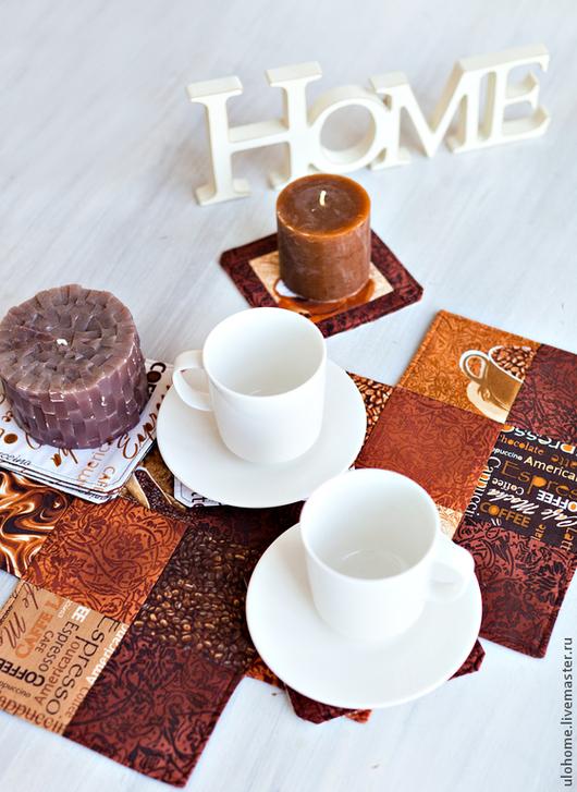 Текстиль, ковры ручной работы. Ярмарка Мастеров - ручная работа. Купить Минутка кофе (декоративная салфетка на стол). Handmade. Коричневый