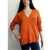 Одежда handmade. Livemaster - original item Jumper knitted oversized Ginger. Handmade.