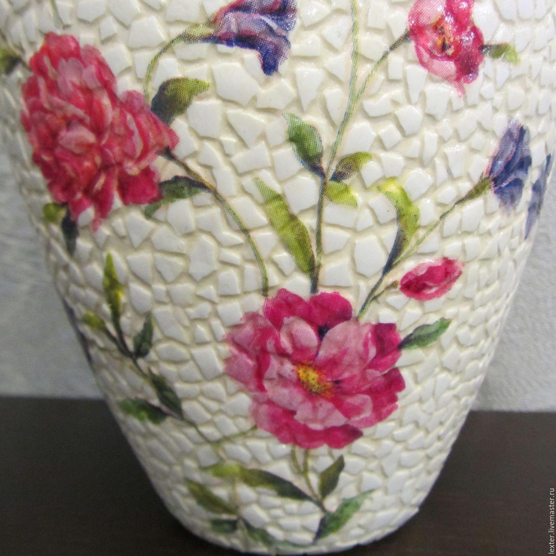 Вазы ручной работы. Стеклянная ваза Flora