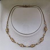 Винтаж handmade. Livemaster - original item Vintage necklaces: Necklace, gold plated. Handmade.