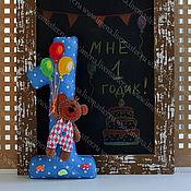 Подарки к праздникам ручной работы. Ярмарка Мастеров - ручная работа Цифра из фетра для Дня рождения. Handmade.