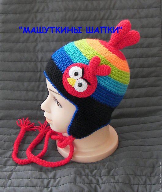 """Шапки ручной работы. Ярмарка Мастеров - ручная работа. Купить Шапка """"Angry"""". Handmade. Комбинированный, шапка в подарок, шапка для мальчика"""