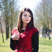 Одежда ручной работы. Ярмарка Мастеров - ручная работа Жилет валяный в народном стиле Маричка. Handmade.
