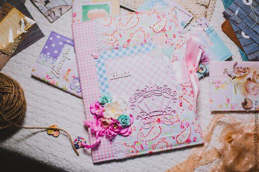 Подарки для новорожденных, ручной работы. Ярмарка Мастеров - ручная работа. Купить Папка для детских документов. Handmade. Розовый, папка для документов