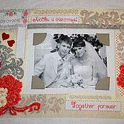 Свадебный салон handmade. Livemaster - original item Metric, Metric wedding, Embroidered wedding metric. Handmade.