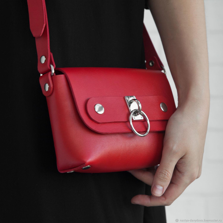 Handbags Handmade Livemaster Handbag Over The Shoulder Chion Red