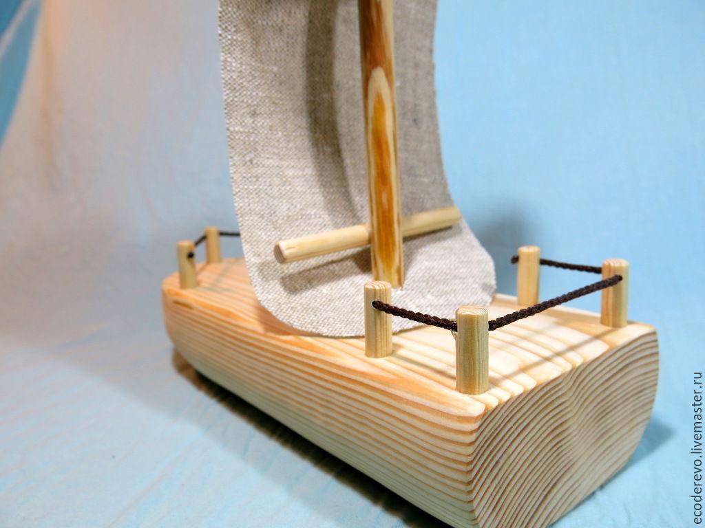 Кораблики с парусами из дерева своими руками