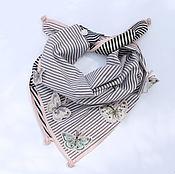 Аксессуары handmade. Livemaster - original item A handkerchief on the neck. Giorgio Armani silk, cotton, butterfly, roses. Handmade.