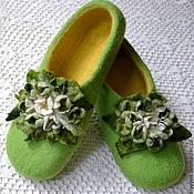 """Обувь ручной работы. Ярмарка Мастеров - ручная работа тапочки из шерсти """"жасмин"""". Handmade."""