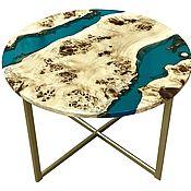 Для дома и интерьера handmade. Livemaster - original item Coffee table made of solid poplar with epoxy resin. Handmade.