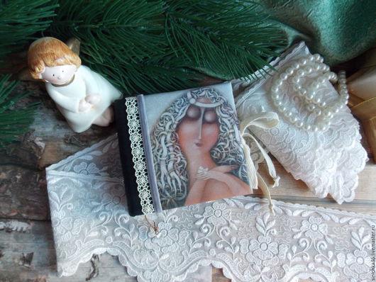 """Блокноты ручной работы. Ярмарка Мастеров - ручная работа. Купить Блокнотик """" Дева с бабочкой """". Handmade. Комбинированный, Скрапбукинг"""