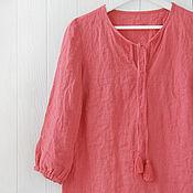 Одежда handmade. Livemaster - original item Linen tunic in boho style. Handmade.