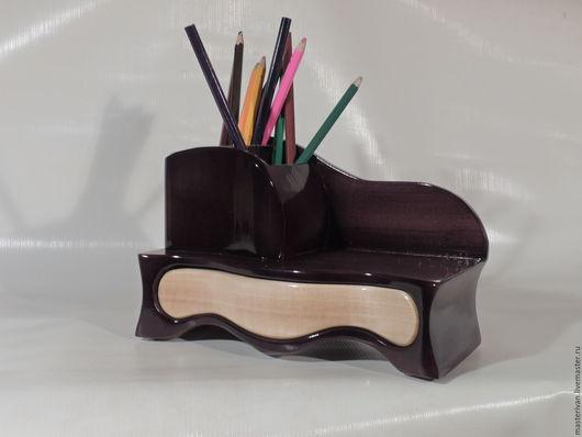Письменные приборы ручной работы. Ярмарка Мастеров - ручная работа. Купить Настольный органайзер. Handmade. Комбинированный, карандашница деревянная