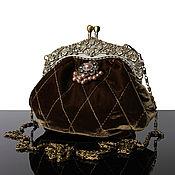 Сумки и аксессуары handmade. Livemaster - original item Velvet bag, olive handbag, bag of velvet. Handmade.