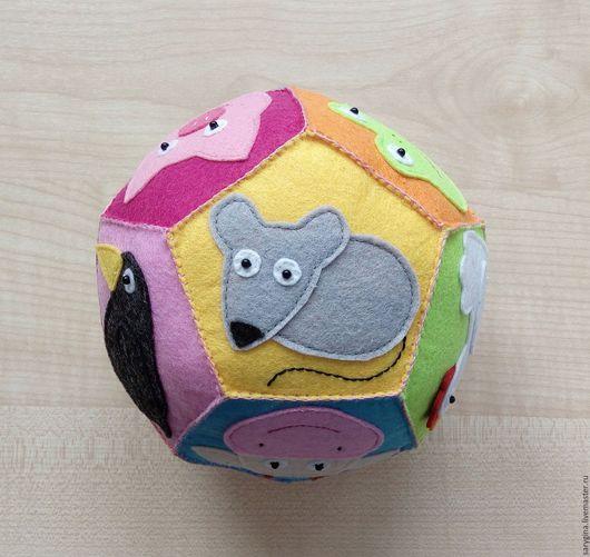 Развивающие игрушки ручной работы. Ярмарка Мастеров - ручная работа. Купить Развивающий мячик для малышей из фетра Животные.. Handmade. Комбинированный
