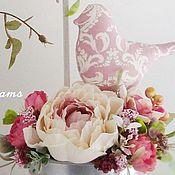 """Цветы и флористика ручной работы. Ярмарка Мастеров - ручная работа Птички """"Pinc Magic"""". Handmade."""