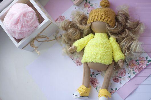 """Куклы тыквоголовки ручной работы. Ярмарка Мастеров - ручная работа. Купить Заготовка для куклы """"Тыквоголовка"""". Handmade. Желтый, кукла Тильда"""