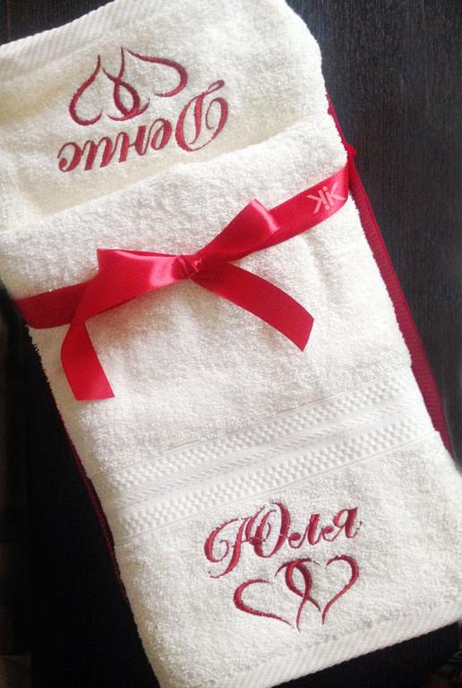 Текстиль, ковры ручной работы. Ярмарка Мастеров - ручная работа. Купить Набор два полотенца с вышивкой . Монограмма. Handmade. Мешок