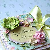 """Сувениры и подарки ручной работы. Ярмарка Мастеров - ручная работа Коробочка для подарка """"Green magnolia"""". Handmade."""