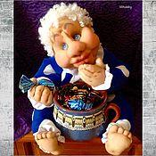 """Для дома и интерьера ручной работы. Ярмарка Мастеров - ручная работа Конфетница """"Угощайтесь!"""" чулочная кукла. Handmade."""