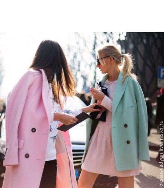 Верхняя одежда ручной работы. Ярмарка Мастеров - ручная работа. Купить Пальто демисезонное Mint. Handmade. Коралловый, пальто демисезонное