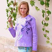 Пуловеры ручной работы. Ярмарка Мастеров - ручная работа Валяный свитер Лиловый. Handmade.