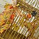 Клетка декоративная плетеная интерьерная Золотая осень. Подвески. Наталья Интерьерные решения. Интернет-магазин Ярмарка Мастеров.  Фото №2