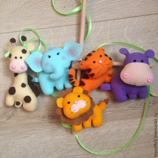 5 игрушек: жираф, слоник, бегемотик, тигренок, львёнок
