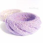 Украшения handmade. Livemaster - original item A couple of knitted bracelets Lavender. Handmade.