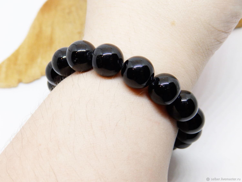 Sherla bracelet is True black, Bead bracelet, Gatchina,  Фото №1