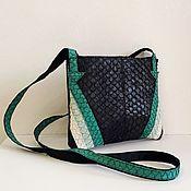 Классическая сумка ручной работы. Ярмарка Мастеров - ручная работа Сумка из кожи рыбы. Handmade.