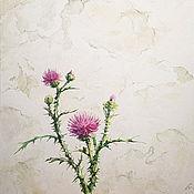 Картины и панно handmade. Livemaster - original item Thistle, watercolor. Handmade.