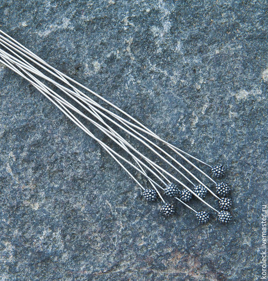 Для украшений ручной работы. Ярмарка Мастеров - ручная работа. Купить Пин серебряный оксидированный Ежевика ручной работы. Handmade.