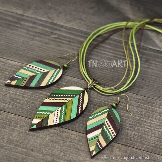 Kit 'forest Spirit' (pendant and earrings), Jewelry Sets, Sochi,  Фото №1