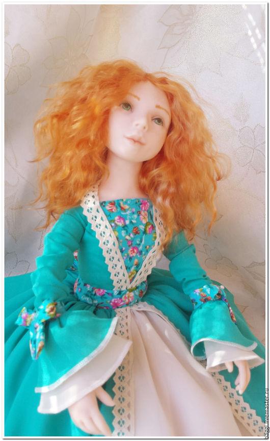 Коллекционные куклы ручной работы. Ярмарка Мастеров - ручная работа. Купить Анжелика - фея цветов интерьерная кукла. Handmade. Разноцветный