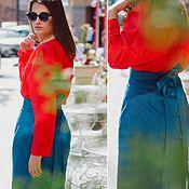 """Одежда ручной работы. Ярмарка Мастеров - ручная работа Джинсовая юбка """"Chris"""". Handmade."""