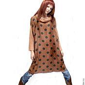 Одежда ручной работы. Ярмарка Мастеров - ручная работа Платье в горох Теплый Париж. Handmade.