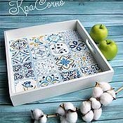 Для дома и интерьера handmade. Livemaster - original item Wooden tray with painting