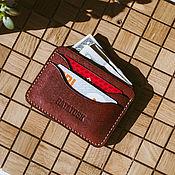 Сумки и аксессуары handmade. Livemaster - original item Wallet cardholders of Burgundy leather MINNEAPOLIS. Handmade.