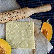 Для дома и интерьера ручной работы. Ярмарка Мастеров - ручная работа Скалка для печатного пряника и печенья в подарок на день рожденья. Handmade.