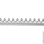 Материалы для творчества ручной работы. Ярмарка Мастеров - ручная работа Серебряные сеттинги (безель) лентой. Handmade.