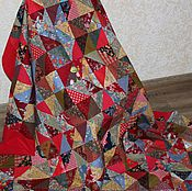 Для дома и интерьера ручной работы. Ярмарка Мастеров - ручная работа Лоскутный плед. Handmade.