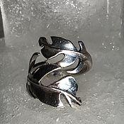 Украшения ручной работы. Ярмарка Мастеров - ручная работа Женское кольцо из серебра 925 пробы Листок. Handmade.