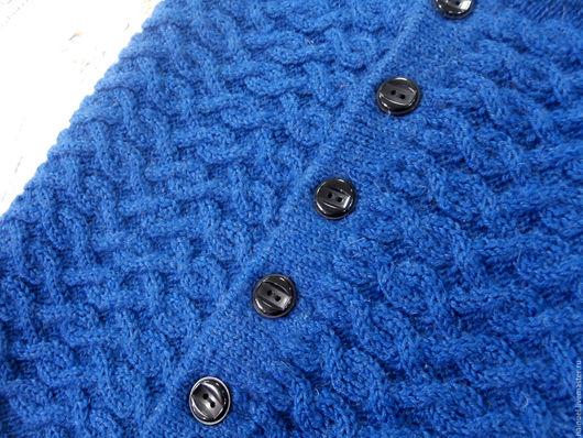 Шарфы и шарфики ручной работы. Ярмарка Мастеров - ручная работа. Купить Синий снуд на пуговицах. Handmade. Тёмно-синий, араны