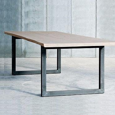 Мебель ручной работы. Ярмарка Мастеров - ручная работа Большой обеденный стол в стиле ЛОФТ. Handmade.